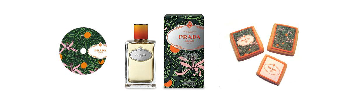 Propuesta Press pack para Infusión de Fleur d'Oranger de Prada