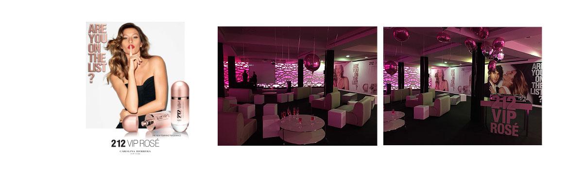 Evento 212 VIP ROSE Sephora